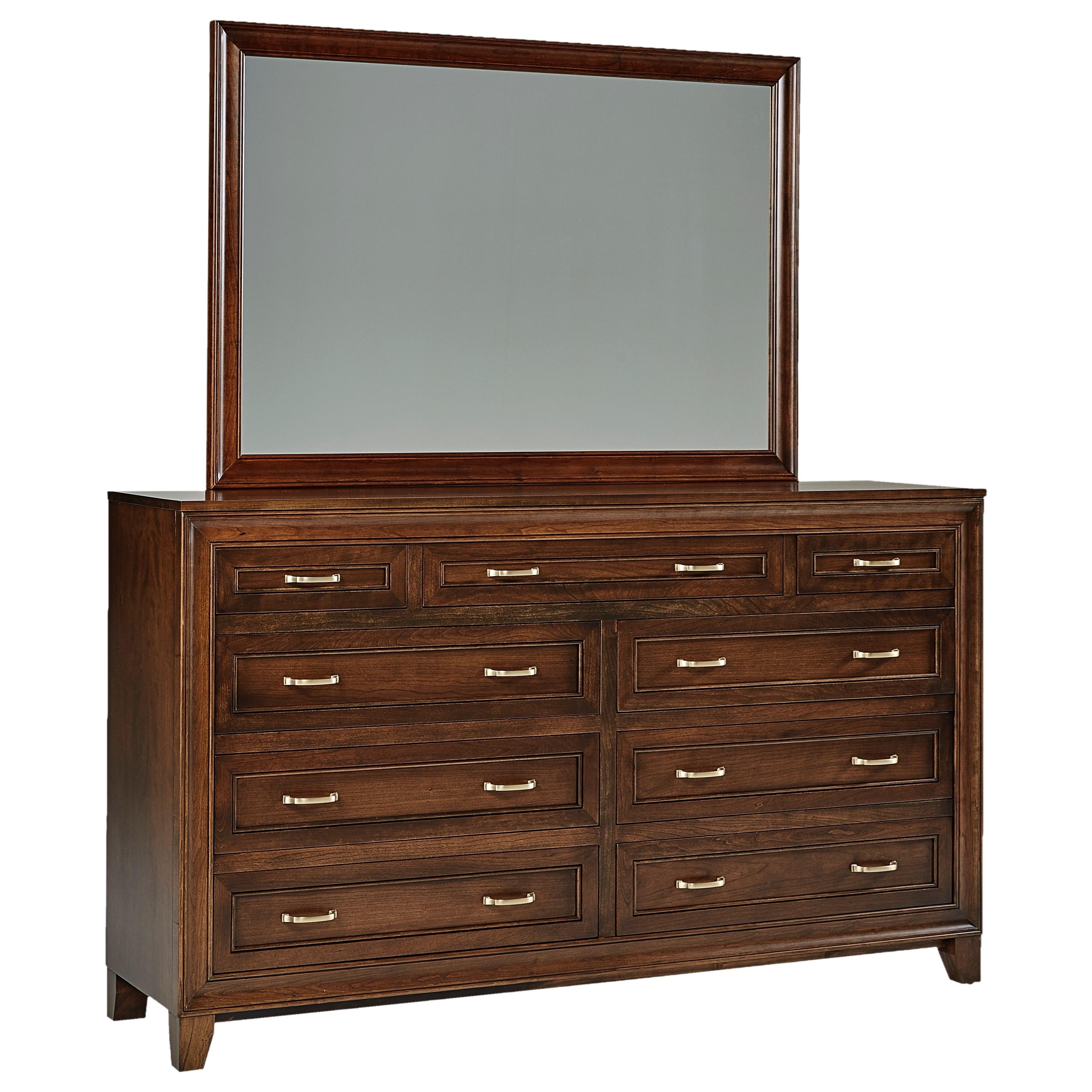 Summerville Dresser + Mirror Set by Daniel's Amish at Saugerties Furniture Mart