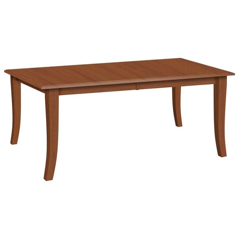 Leg Rectangular Dining Table by Daniels Amish at Virginia Furniture Market