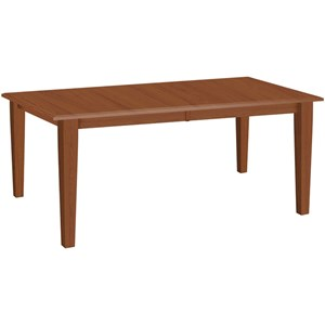 Customizable Rectangular Dining Table with 2 Leaves