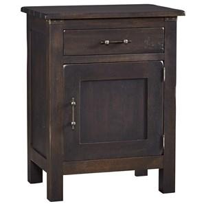 Solid Wood Nighstand with 1 Door