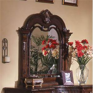 Traditional Landscape Mirror with Elegant Wood Frame