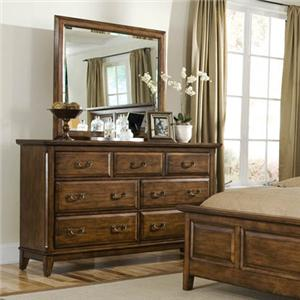 Davis Direct Mango  Dresser and Mirror Combo