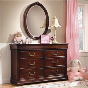 Davis Direct Regency Double Dresser & Oval Mirror