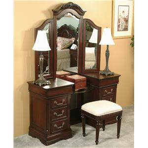 Davis Direct Regency Vanity & Mirror with Bench
