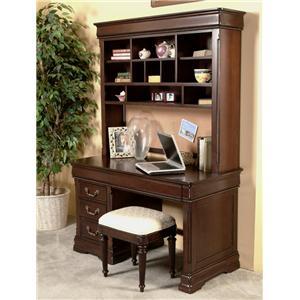 Davis Direct Regency Computer Desk & Hutch with Bench