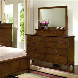Davis Direct Sterling Heights Dresser and Gallery Mirror Combo