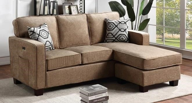 818 Light Brown Sectional by Phoenix Custom Furniture at Del Sol Furniture