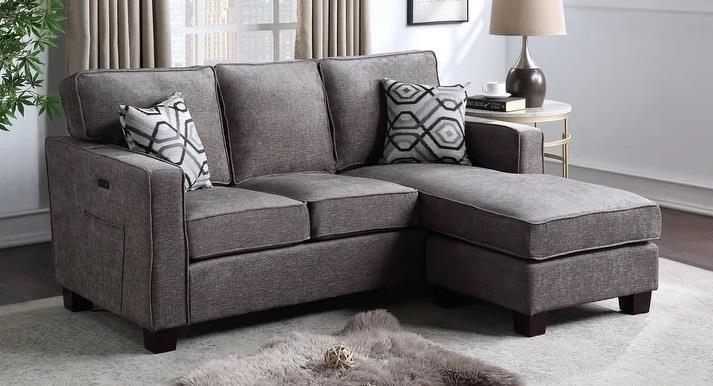818 GRAY REVERSIBLE SECTIONAL by Phoenix Custom Furniture at Del Sol Furniture