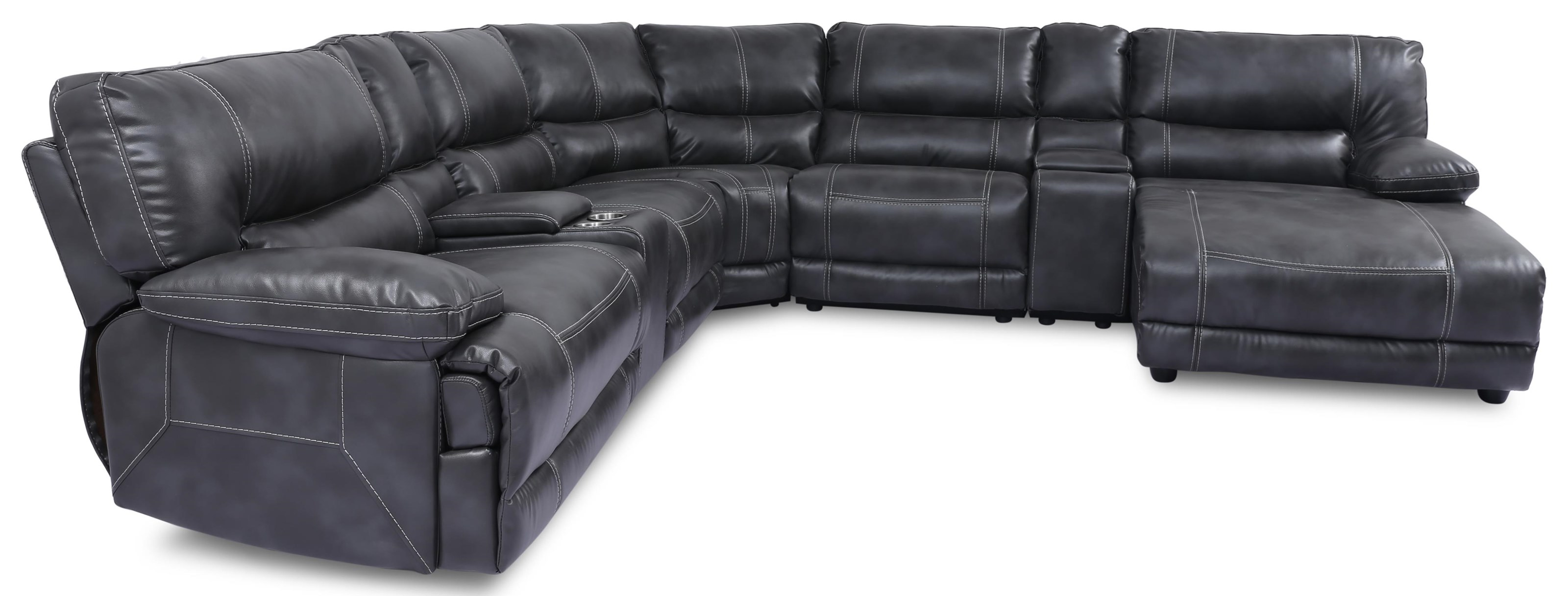 9509 7pc Motion Sectional w Chaise by Phoenix Custom Furniture at Del Sol Furniture