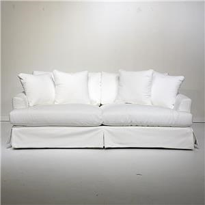 White Slipcovered Sofa in Performance Fabric