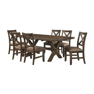 Trestle Table with 6 Side Chairs