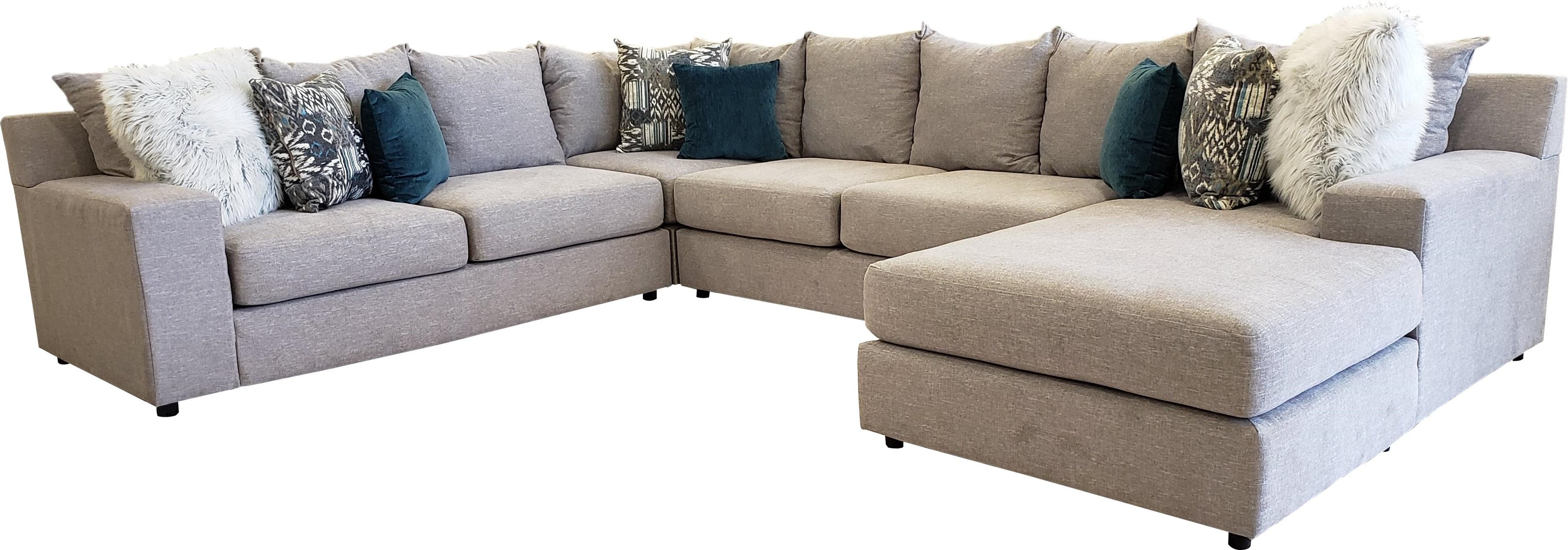 CASHMERE 4pc Large Sectional RAF Chaise by Phoenix Custom Furniture at Del Sol Furniture