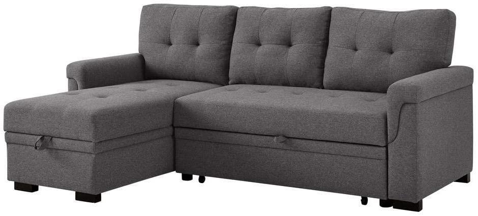 Lucca Reversible Sleeper Sofa w Storage by Phoenix Custom Furniture at Del Sol Furniture