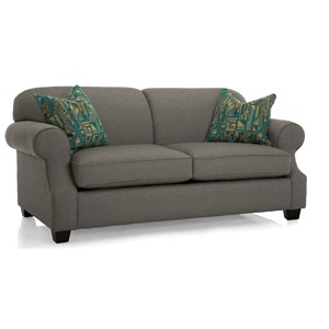 Double Bed Sleeper Sofa with Rolled Arms