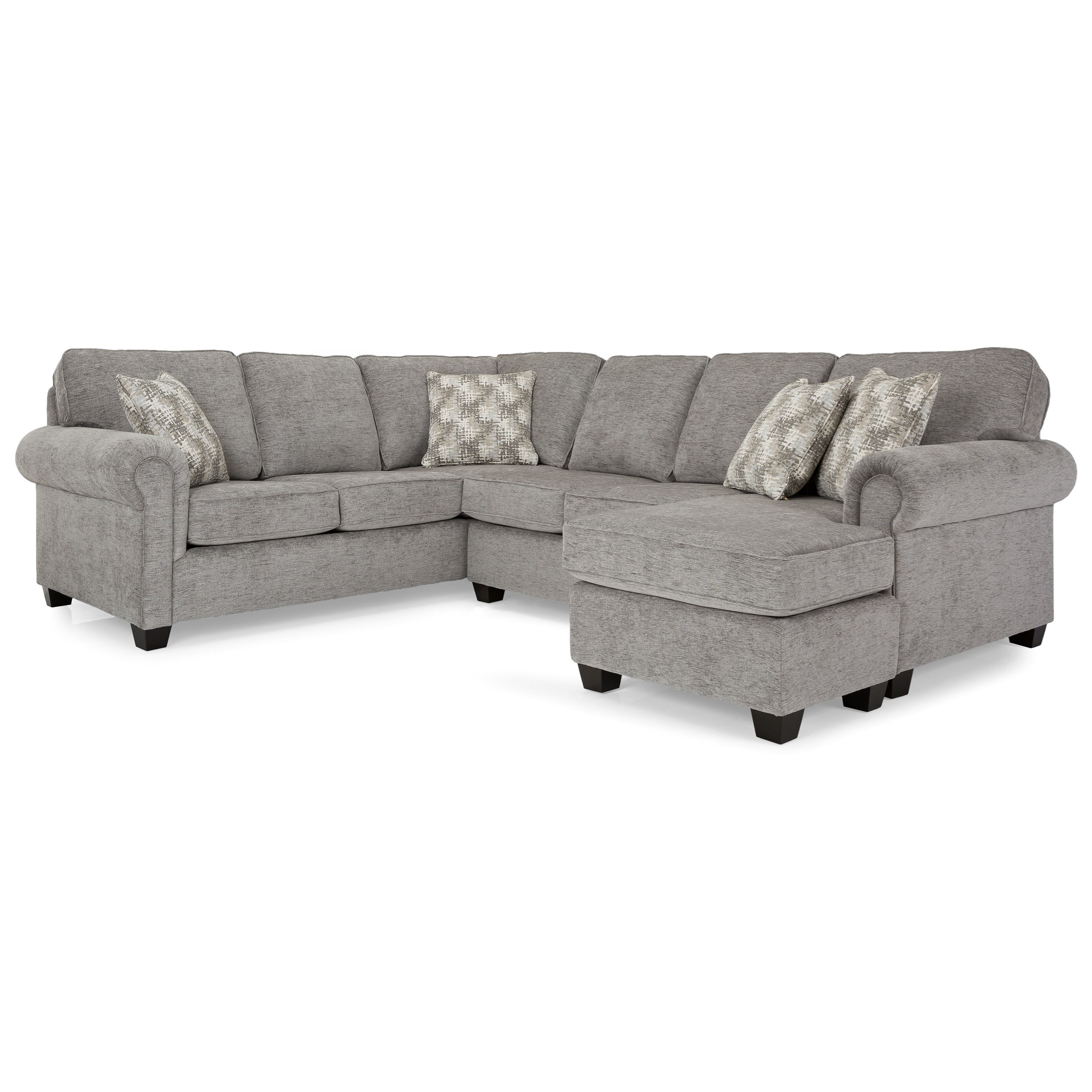 2006 Sectional Series Sectional with Chaise by Decor-Rest at Johnny Janosik