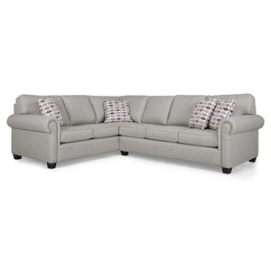 Sectional Sofa Group with Rolled Arms