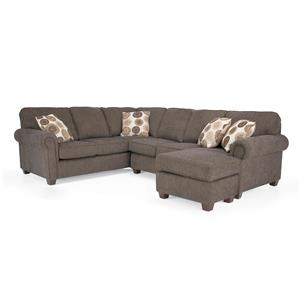 Transitional Sectional Sofa Group with Chaise