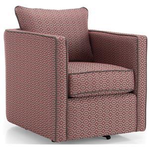 Swivel Chair w/ Loose Back Cushion