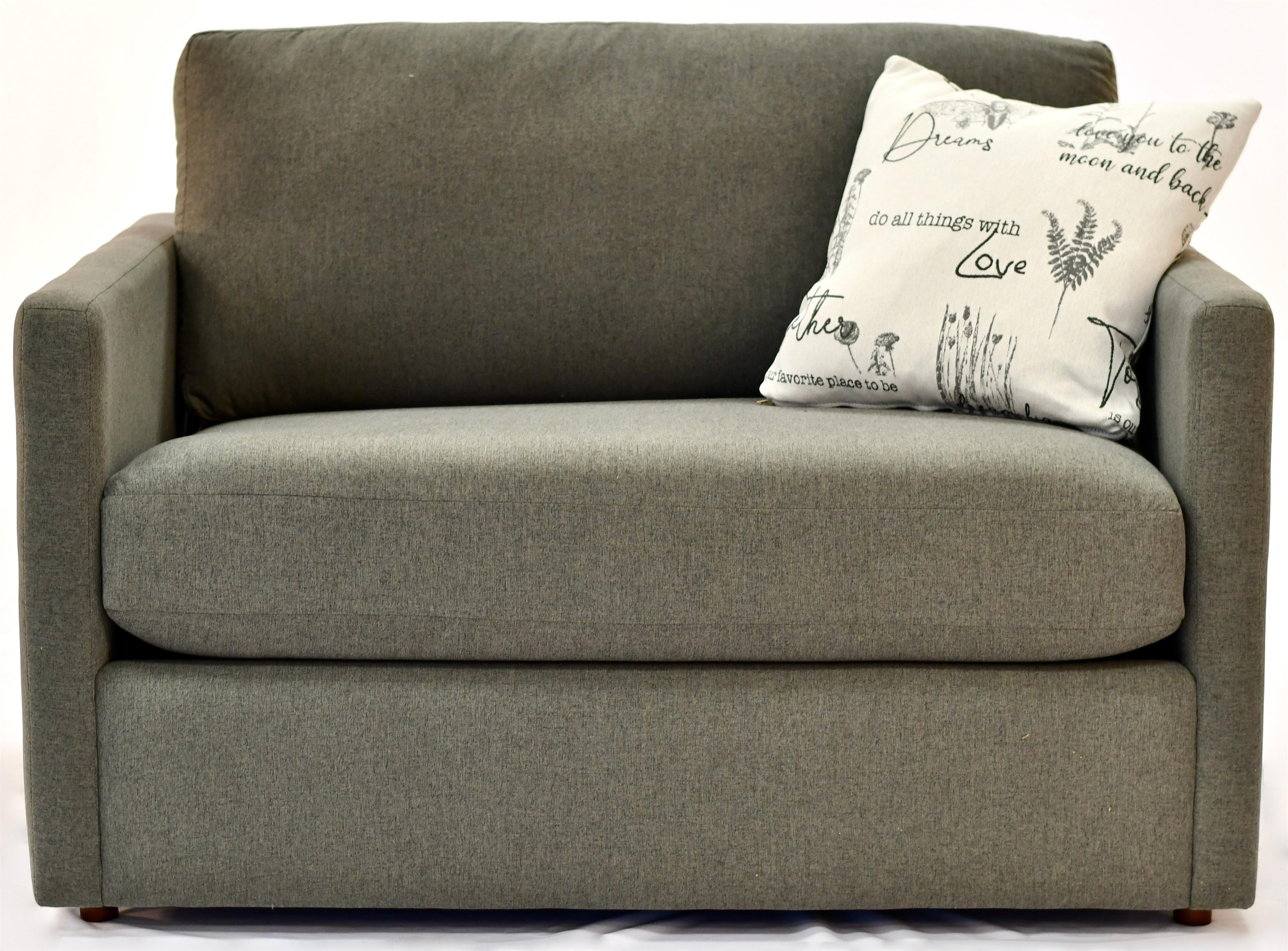 Tess Loveseat Twin Sleeper by Taelor Designs at Bennett's Furniture and Mattresses