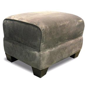 Ottoman with Exposed Feet