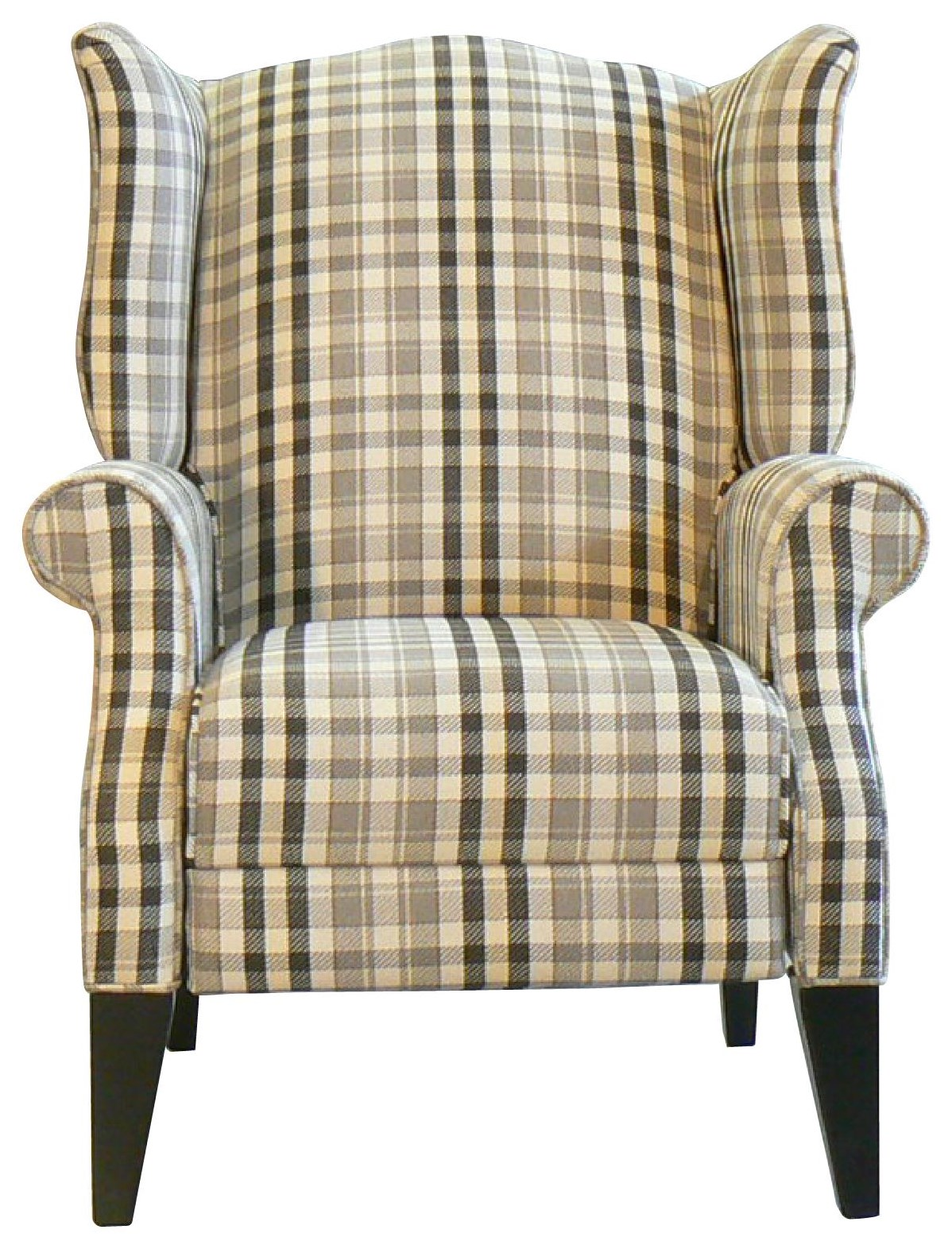Ashby Push Back Wing Chair by Taelor Designs at Bennett's Furniture and Mattresses
