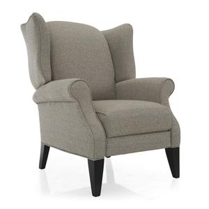 Traditional High Leg Recliner Wing Chair