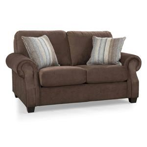 Casual Rolled Arm Loveseat