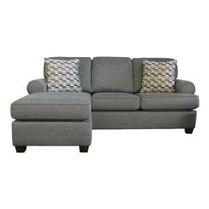 Transitional Customizable Sofa with Chaise