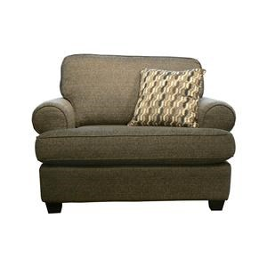 Transitional Upholstered Chair and a Half