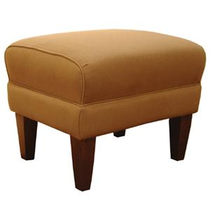 Ottoman with Exposed Wood Legs
