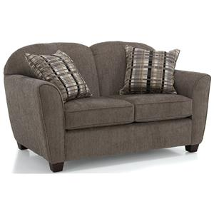Love Seat w/ Square Wood Legs