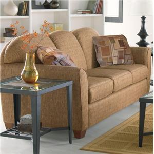 Contemporary Sofa with Curved Track Arms
