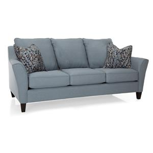 Contemporary Sofa with Attached Pillow Back