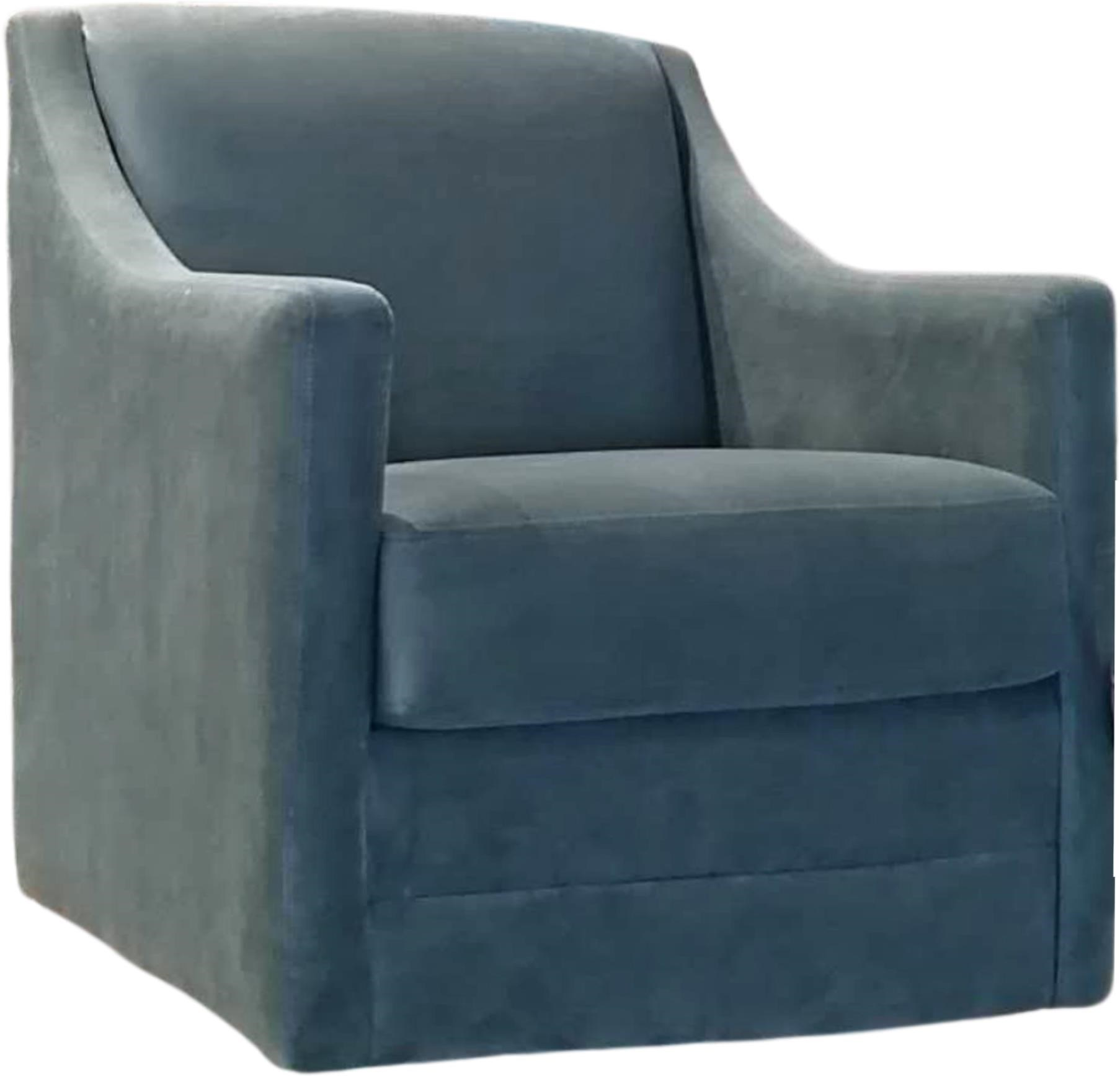 2443 2443 Swivel Chair in Dallas Aqua43 by Decor-Rest at Upper Room Home Furnishings