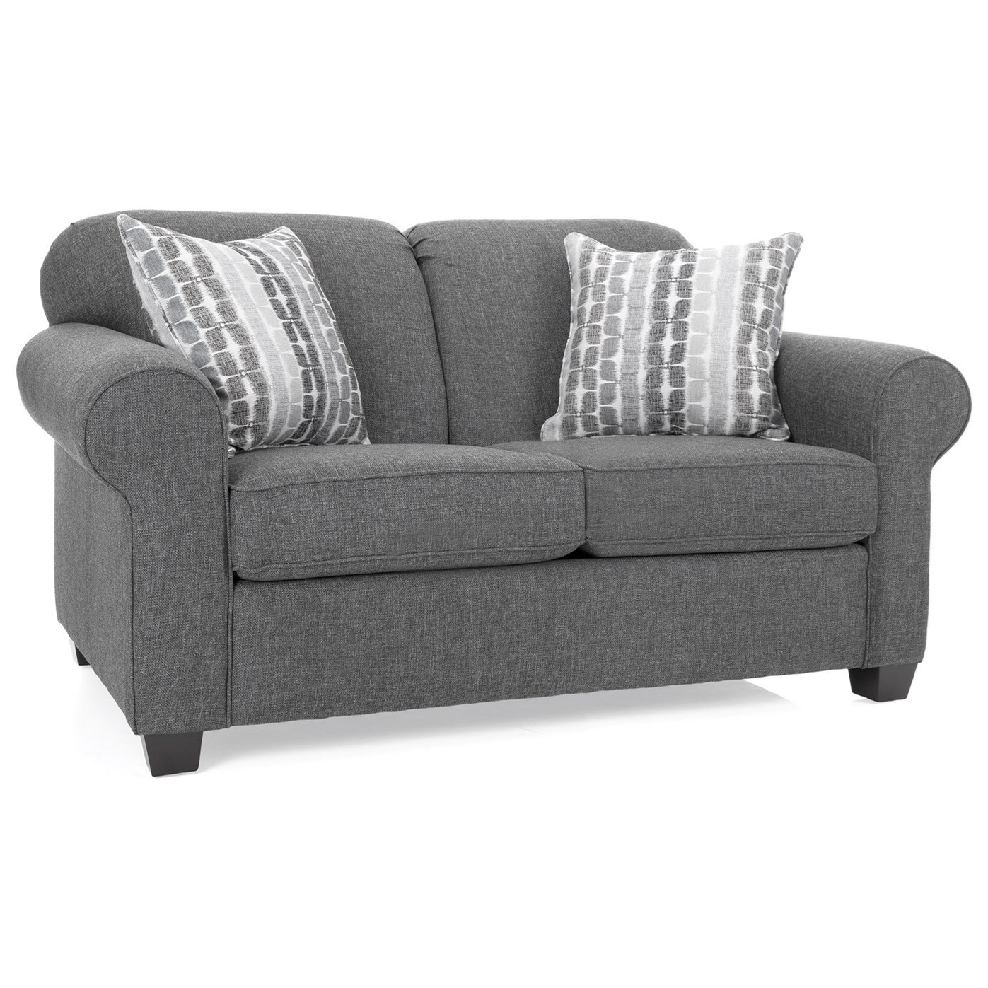 2455 Casual Loveseat by Decor-Rest at Reid's Furniture