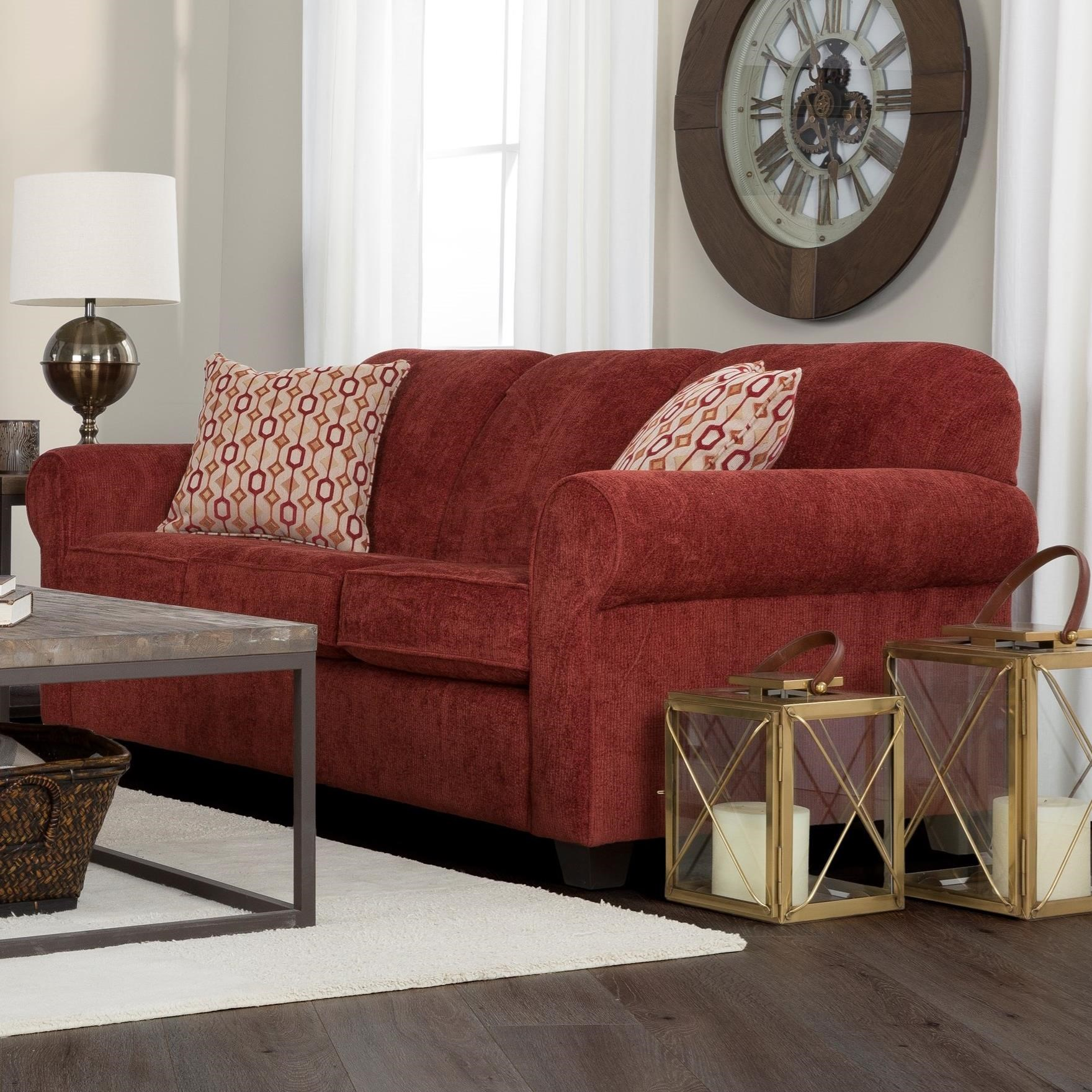 2455 Contemporary Sofa by Decor-Rest at Johnny Janosik