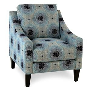 Mid-Century Modern Accent Chair with Sloped Track Arms