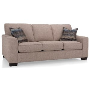 Casual Sofa with Wide Track Arms