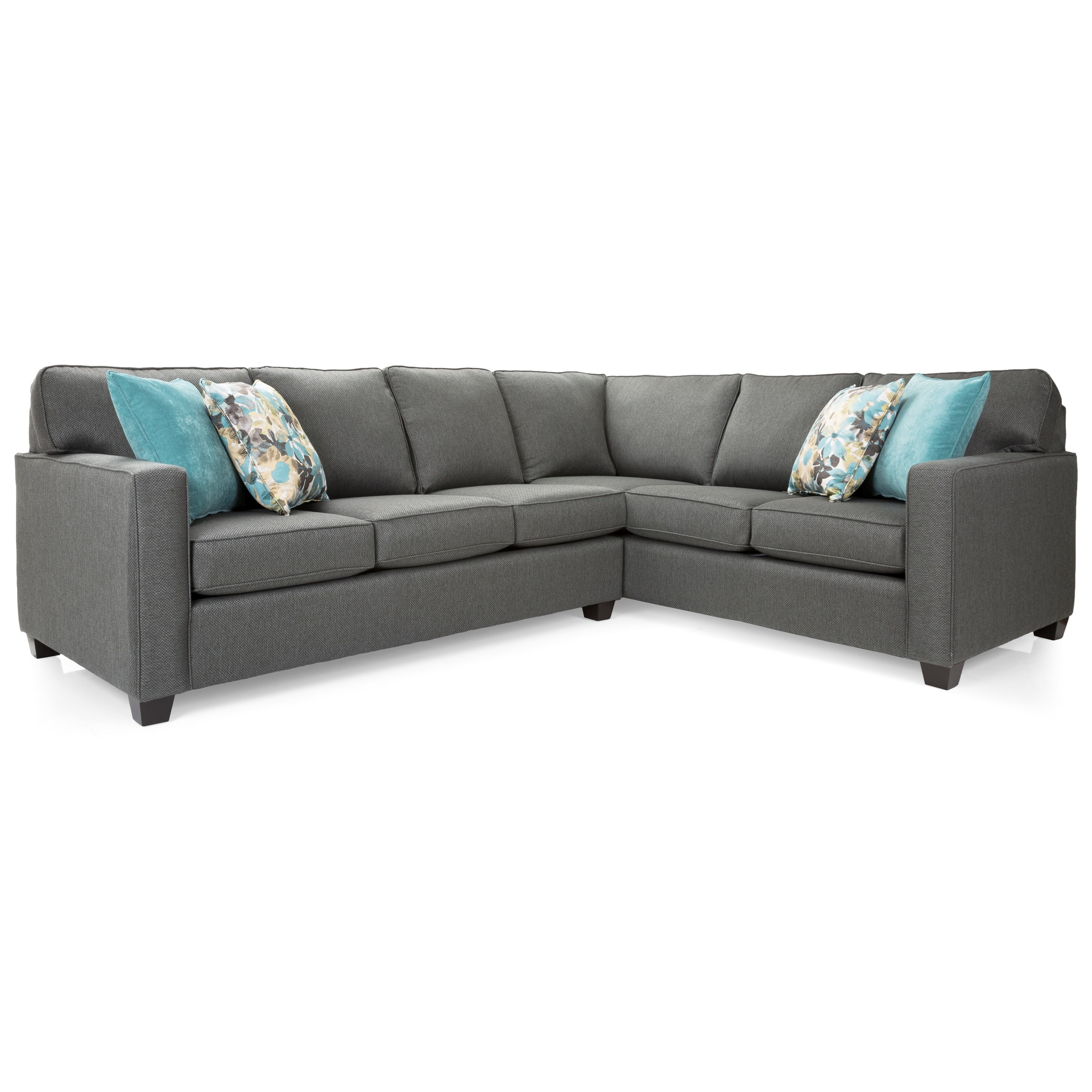 2541 Sectional Sofa by Decor-Rest at Upper Room Home Furnishings