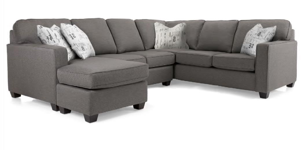 2541 Sectional Sofa by Decor-Rest at Reid's Furniture