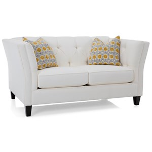 Traditional Loveseat with Tufted Back