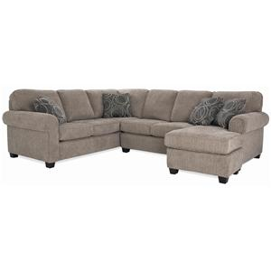 Casual Sectional with Chaise