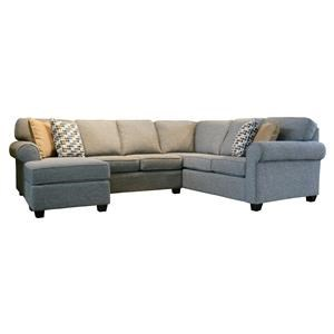 2 Pc. Sectional with Chaise