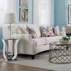 Traditional Sofa with Track Arms and Nailhead Trim