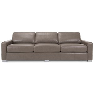 """Contemporary 102"""" Sofa with Track Arms"""