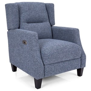 Contemporary Wing Chair with Power Recline and USB Port