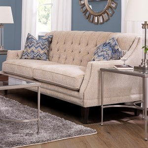 Traditional Sofa with Tufted Back