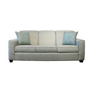 Casual Sofa with Beveled Arms