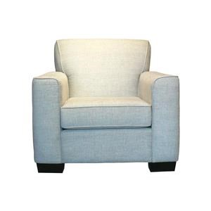 Casual Chair with Beveled Arms