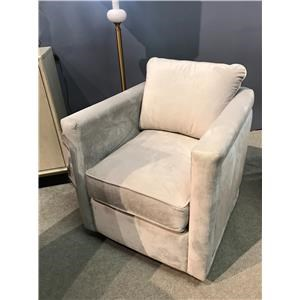 Contemporary Swivel Chair with Nail Studs